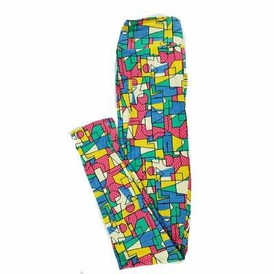 Tween LuLaRoe Leggings Geometric Polka Dot Fits Adult Sizes 00-0