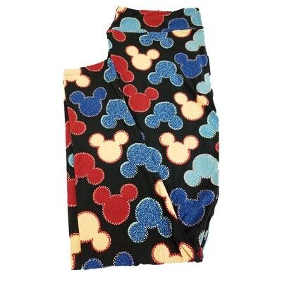 LuLaRoe TC2 Disney Mickey Mouse Black Red Blue Purple Leggings fits Adult Sizes 18+