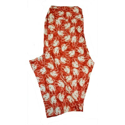 LuLaRoe TC2 Disney Mickey Mouse Red White Leggings fits Adult Sizes 18+