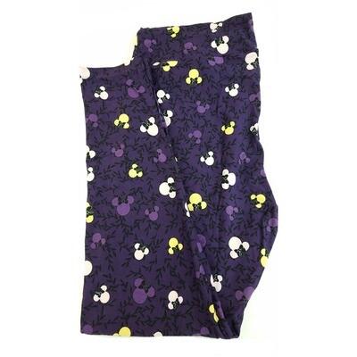 LuLaRoe TC2 Disney Minnie Mouse Branches Purple Yellow White Leggings fits Adult Sizes 18+