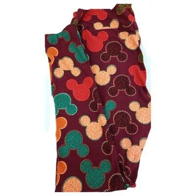 LuLaRoe Tall Curvy TC Disney Mickey Mouse Geometric Adult Leggings fits 12-18
