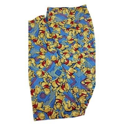 LuLaRoe Tall Curvy TC Disney Winnie The Pooh Adult Leggings fits 12-18