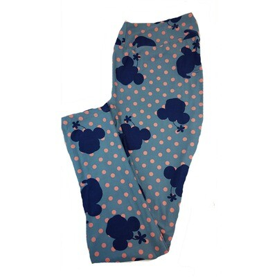 LuLaRoe Tall Curvy TC Disney Minnie Mouse Polka Dot Adult Leggings fits 12-18