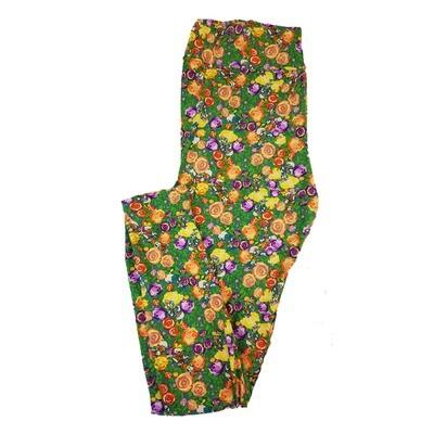 LuLaRoe Tall Curvy TC Disney Daisy Duck Among the Roses Adult Leggings fits 12-18