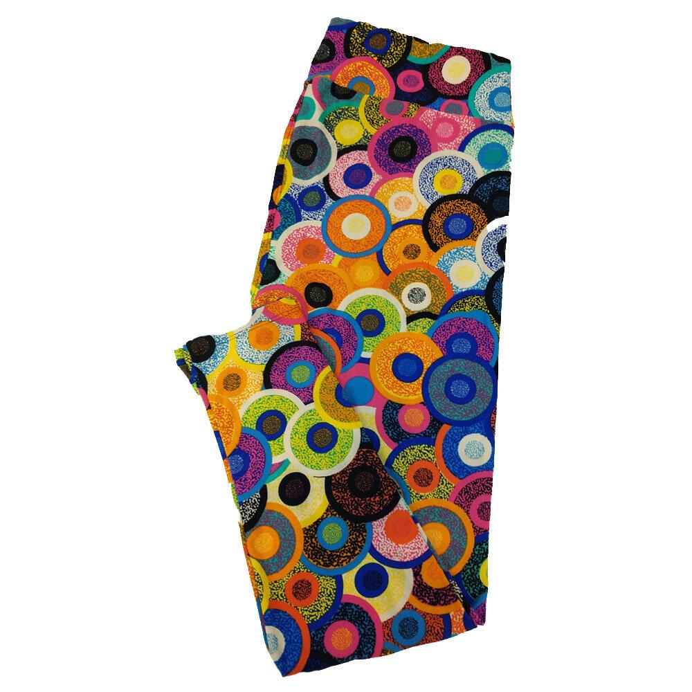 LuLaRoe TC2 Geometric Multicolor Circle Polka Dot Bubble Black Blue Green Leggings fits Adult Sizes 18+
