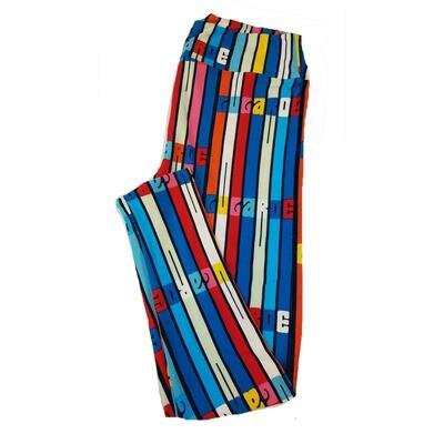 LuLaRoe TC2 Rainbow Stripe LuLaRoe Leggings fits Adult Sizes 18+