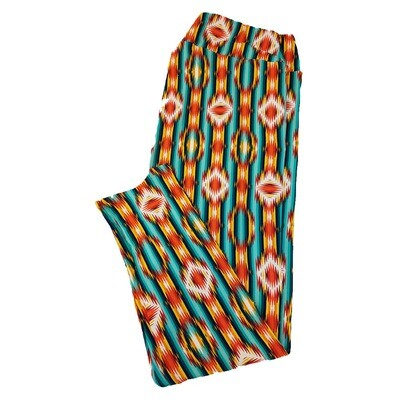 LuLaRoe TC2 Geometric Psychedlic Trippy Striped Leggings fits Adult Sizes 18+