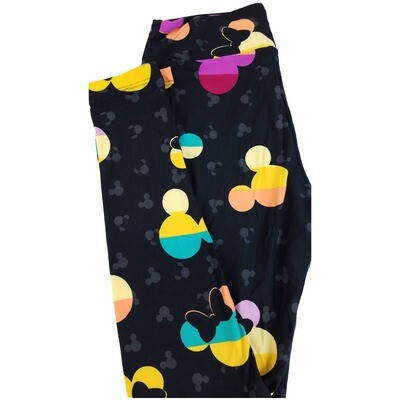 LuLaRoe One Size OS Disney Minnie Mouse Geometric Polka Dot Leggings fits sizes 2-10