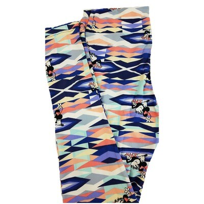 LuLaRoe One Size OS Disney Mickey and Minnie Mouse Black Red Pink Geometric Leggings fits 2-10