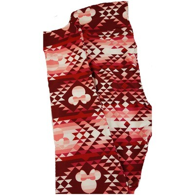 LuLaRoe One Size OS Disney Minnie Mouse Geometric Leggings fits 2-10