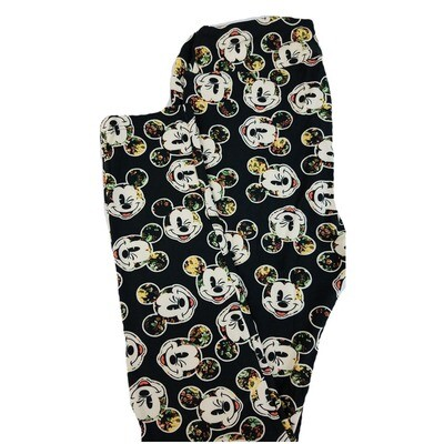 LuLaRoe One Size OS Disney Mickey Mouse Winking Geometric Leggings fits 2-10