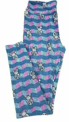 LuLaRoe One Size OS Disney Mickey Mouse Smiling and Winking Leggings fits sizes 2-10