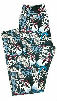 LuLaRoe One Size OS Disney Mickey Mouse Animated Leggings fits sizes 2-10