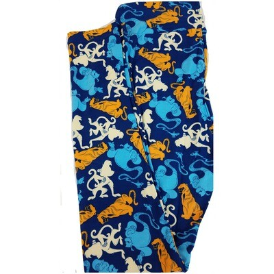 LuLaRoe One Size OS Disney from Aladdin Abu Rajah Leggings fits 2-10