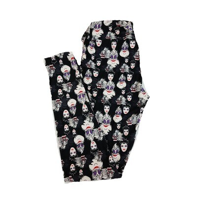 LuLaRoe One Size OS Disney Villains from Snow White Evil Queen. Ursula from Little Mermaid Leggings fits sizes 2-10