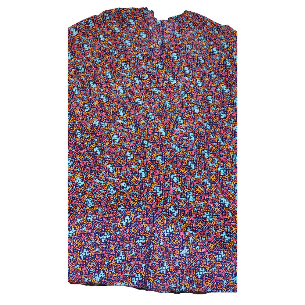 LuLaRoe Lindsay Kimono Medium M Purple Blue Orange Geometric fits 10-18