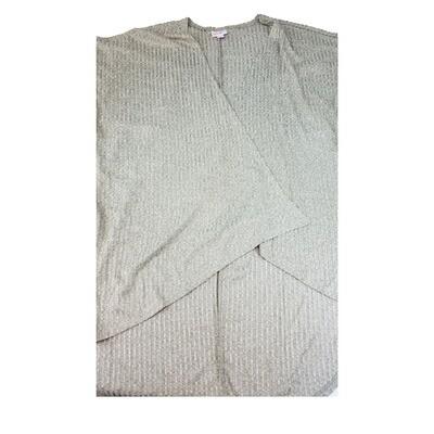 LuLaRoe Lindsay Kimono Small S Grey Ribbed fits 0-8