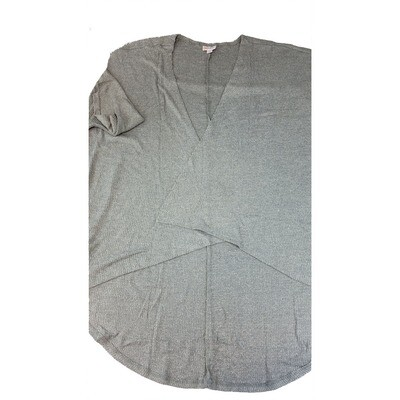 LuLaRoe Lindsay Kimono Medium M Grey Ribbed fits 10-18
