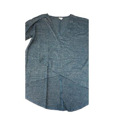LuLaRoe Lindsay Kimono Medium M Dark Blue Grey Heather fits 10-18