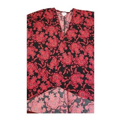 LuLaRoe Lindsay Kimono Medium M Black and Fuchsia Paisley fits 10-18