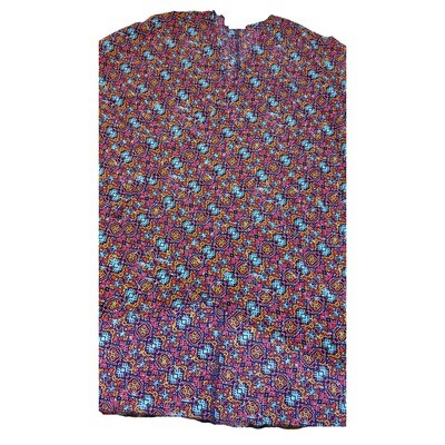 LuLaRoe Lindsay Kimono Medium M Purple Blue Orange Geometric fits 10-18