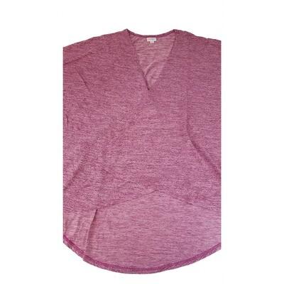 LuLaRoe Lindsay Kimono Large L Dark Pink Heather fits Womens sizes 18-22