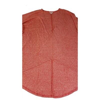 LuLaRoe Lindsay Kimono Large L Red Ribbed fits Womens sizes 18-22