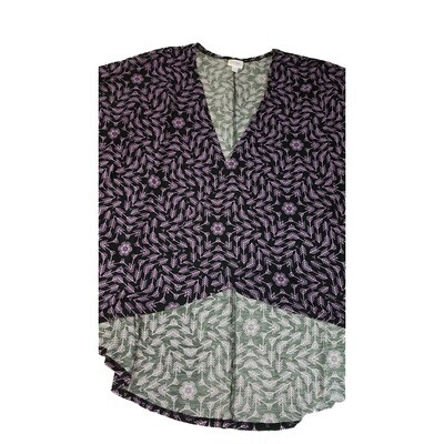LuLaRoe Lindsay Kimono Large L Black and Purple Arrows fits Womens sizes 18-22
