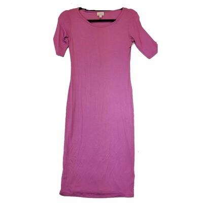 JULIA XX-Small XXS Solid Pink Form Fitting Dress fits sizes 00-0