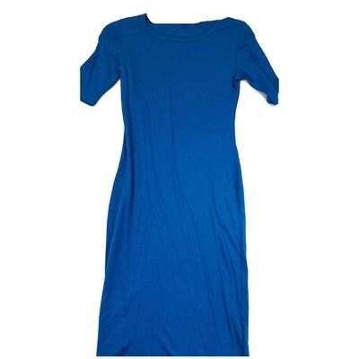 JULIA XX-Small XXS Solid Blue Form Fitting Dress fits sizes 00-0
