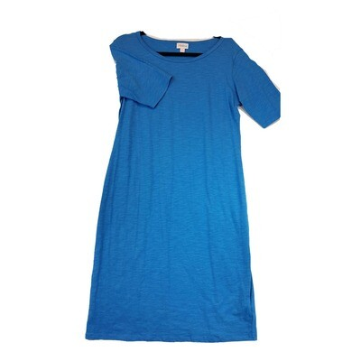 JULIA X-Large XL Solid Blue Form Fitting Dress fits sizes 16-18