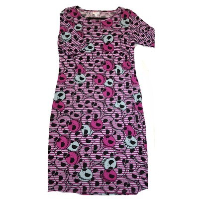 JULIA X-Large XL Disney Jack Skellington from Nightmare Before Christmas Polka Dot Stripe Form Fitting Dress fits sizes 16-18