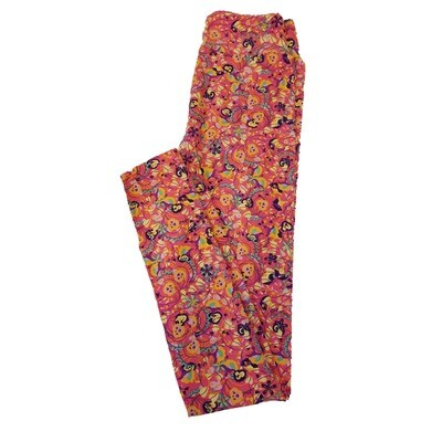 LuLaRoe Tween Floral Leggings Fits Adult Sizes 00-0