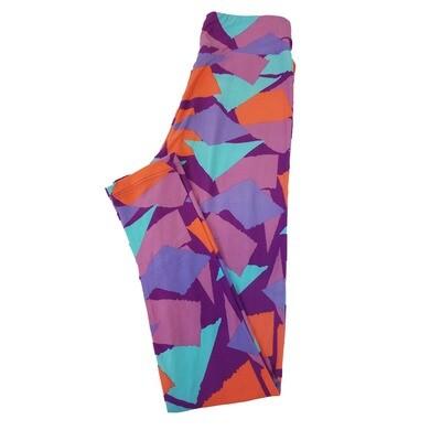 LuLaRoe Tween Geometric Leggings Fits Adult Sizes 00-0