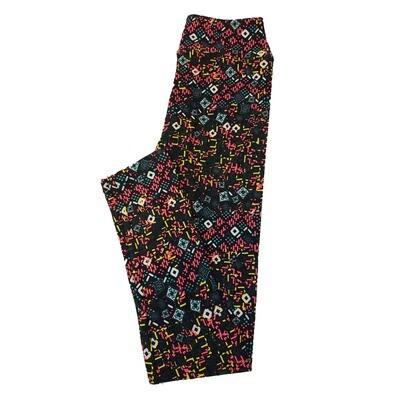 LuLaRoe Tween Geometric Black Polka Dot Leggings Fits Adult Sizes 00-0