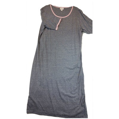 JULIA XXX-Large 3XL Solid Grey with Pink Trim Form Fitting Dress fits sizes 24-26