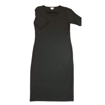JULIA Small S Solid Black Form Fitting Dress fits sizes 4-6