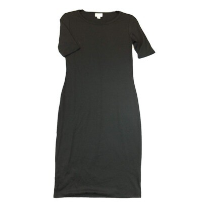 JULIA X-Small XS Solid Black Form Fitting Dress fits sizes 2-4