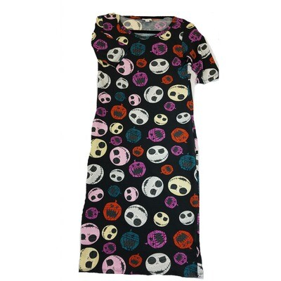 JULIA X-Small XS Disney Jack Skellington from Nightmare Before Christmas Jack O Lantern Pumpkin Black White Purple Cream Red Polka Dot Form Fitting Dress fits sizes 2-4