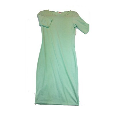 JULIA X-Small XS Solid Mint Green Form Fitting Dress fits sizes 2-4