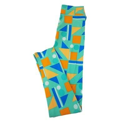 LuLaRoe Tween Squares Triangle Circle Geometric Leggings Fits Adult Sizes 00-0