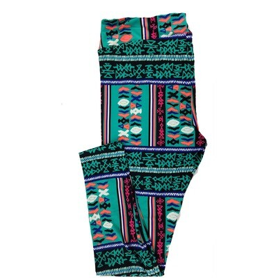 LuLaRoe Tall Curvy TC Geometric Chevron Stripe Leggings fits sizes 12-18