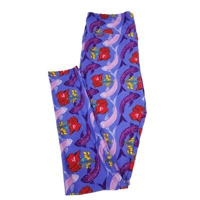 LuLaRoe Tall Curvy TC Floral Leggings fits sizes 12-18