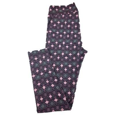 LuLaRoe Tall Curvy TC Geometric Polka Dot Stripe Leggings fits sizes 12-18