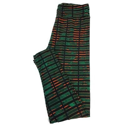 LuLaRoe Tall Curvy TC Geometric Stripe Leggings fits sizes 12-18