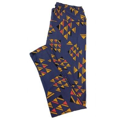LuLaRoe Tall Curvy TC Geometric Triangle Chevron Leggings fits sizes 12-18