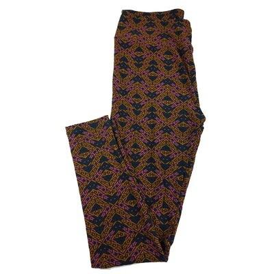 LuLaRoe Tall Curvy TC Trippy Geometric Leggings fits sizes 12-18