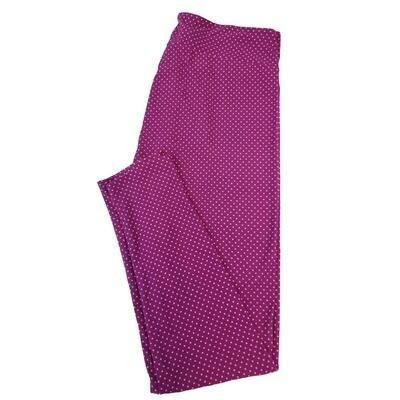 LuLaRoe Tall Curvy TC Micro Polka Dot Leggings fits sizes 12-18