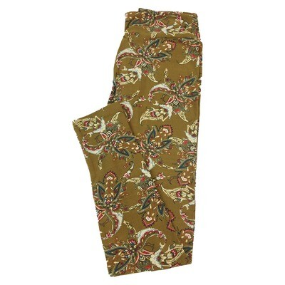 LuLaRoe One Size OS Paisley Floral Leggings fit Sizes 2-10