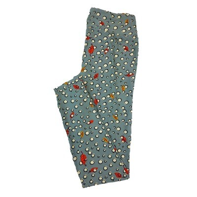 LuLaRoe One Size OS Leaves Leaf Bubbles Polka Dots Grey Black Green Red Leggings fit Sizes 2-10